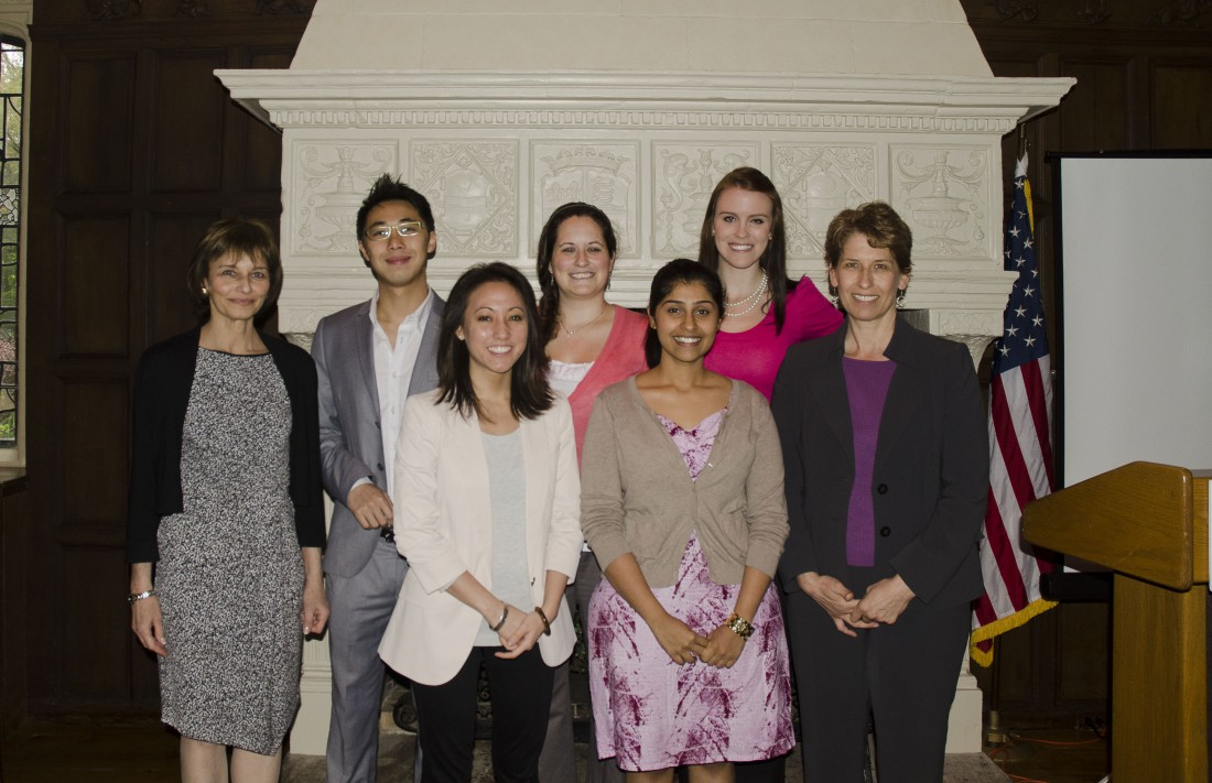The first Graduating Class of students in the Master's Program for Genetic Counseling